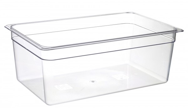 GN-Behälter GN 1/1 530 x 325 x 200 mmPolycarbonat transparent- Polycarbonat- mit