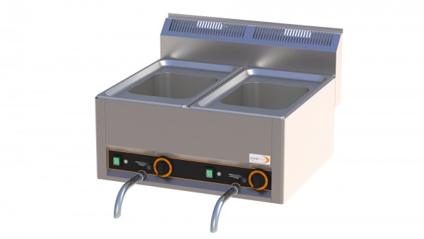 Elektro-Nudelkocher 2 x GN 1/2 mit 8 Nudelkörben 660 x 600 x 290 mm
