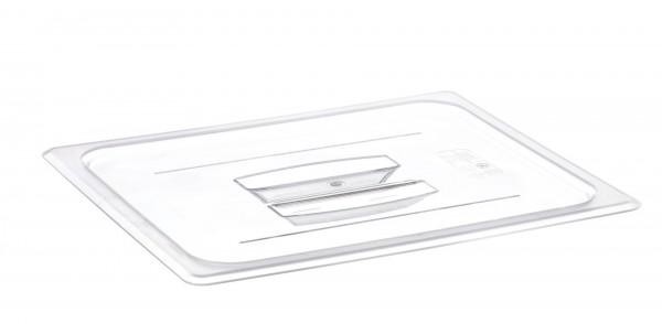 GN-Deckel GN 1/2 325 x 265 mm mit Griffohne Aussparung Polycarbonat transparent-