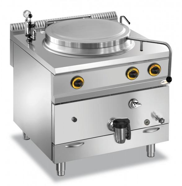 Gas-Kochkessel 150 l indirekte Hitze 800 x 900 x 850 mm