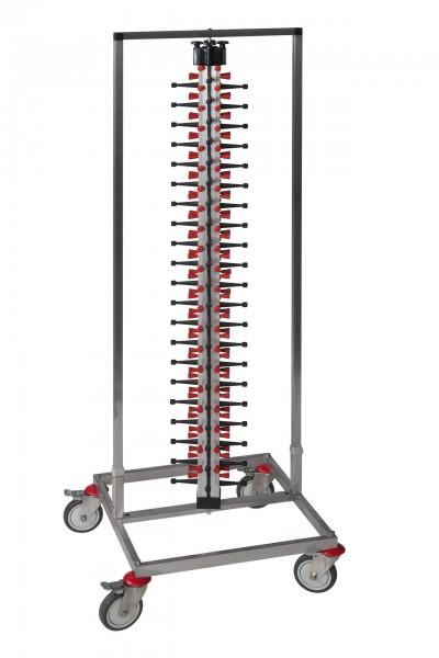 Tellerstapelsystem PLATE MATE fahrbar bis 84 Teller / H=1850 mm