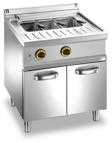 Elektro-Nudelkocher 1 Becken 40 l Unterbau mit Türen 700 x 700 x 850 mm