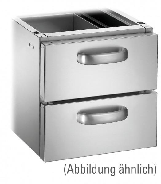 Schubladen-Set mit 2 Schubladen GN 2/1 für Unterschränke Serie 700