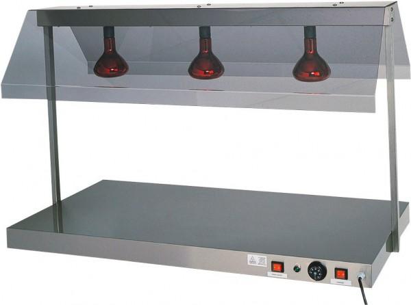 Warmhalteplatte mit 3 Infrarotlampen 1270 x 680 x 800 mm