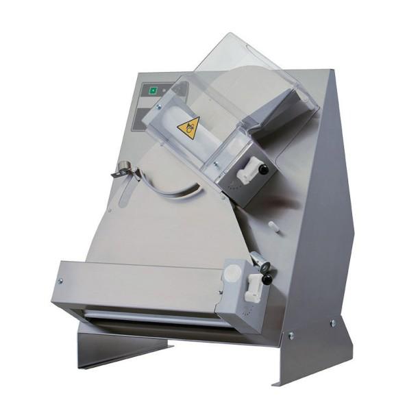 Teig-Ausrollmaschine für runde Pizzenbis ø 400 mm / 530 x 530 x 730 mm- untere R