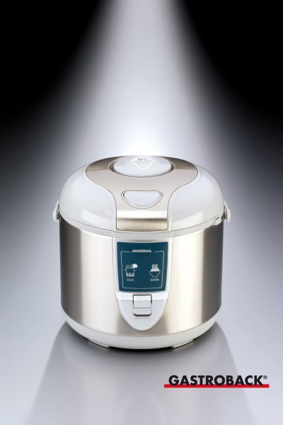 Elektro-Reiskocher 5 lø 310 x H 284 mm- Abschaltautomatik- Warmhaltefunktion- Ko