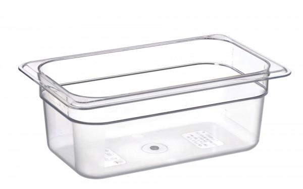 GN-Behälter GN 1/4 265 x 162 x 100 mmPolycarbonat transparent- Polycarbonat- mit