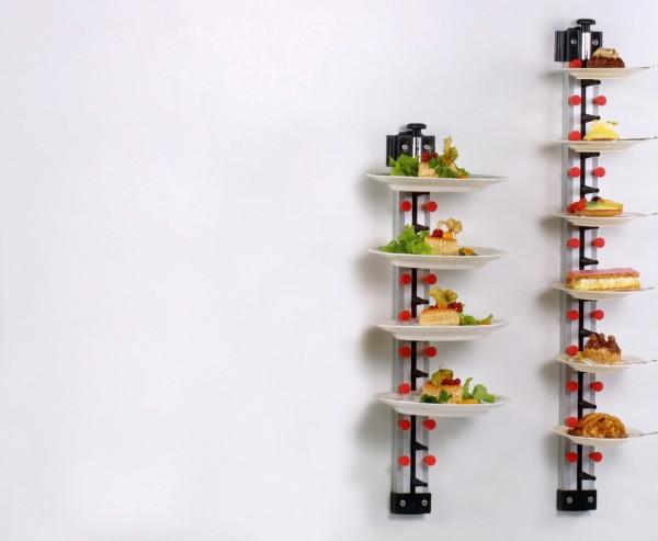 Tellerstapelsystem PLATE MATE Wandmodell bis 6 Teller / H=570 mm