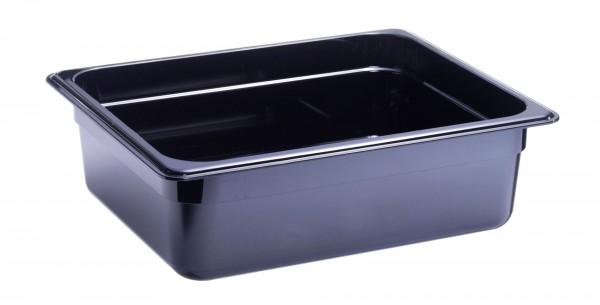GN-Behälter GN 1/2 325 x 265 x 100 mmPolycarbonat schwarz- Polycarbonat- mit Sta