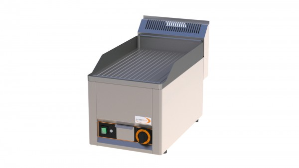 Elektro-Grillplatte gerillt 1 Heizzone 330 x 600 x 290 mm