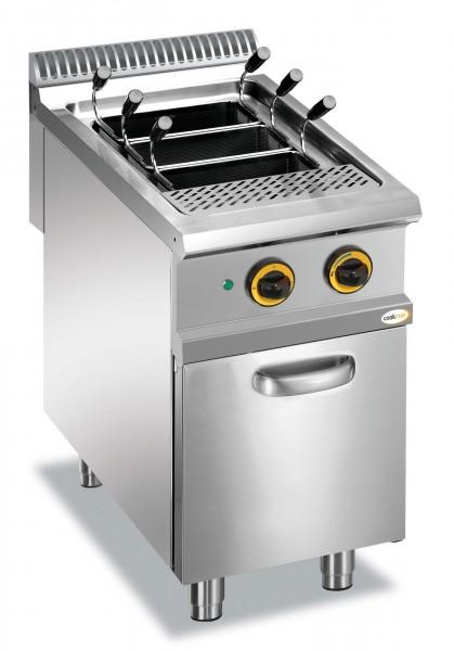Elektro-Nudelkocher 1 Becken 40 l Unterbau mit Tür 400 x 900 x 850 mm| Cookmax