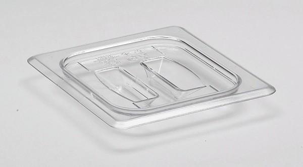 GN-Deckel GN 1/6 176 x 162 mm mit Griffohne Aussparung Polycarbonat transparent-