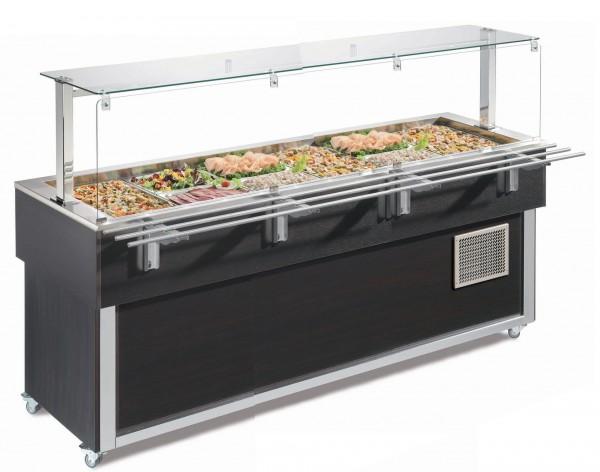 Ausgabe-Element gekühlte Wanne 2144 mm GN 6/1 Vollverkleidung Wenge| Cookmax