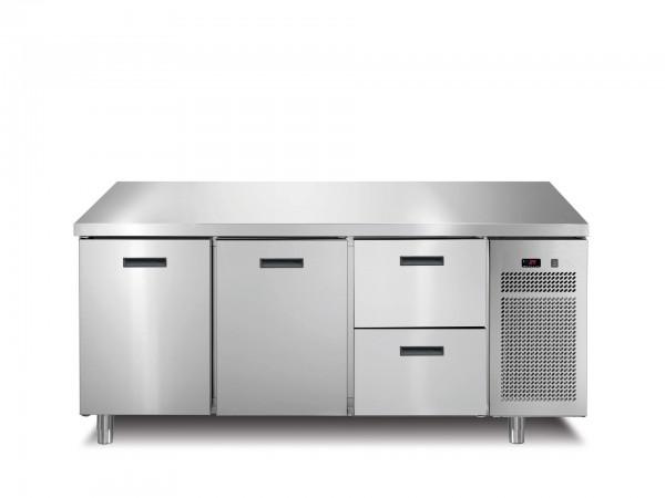 Tiefkühltisch 2 Türen 2 Schubladen ohne Aufkantung 1721 x 700 x 850 mm