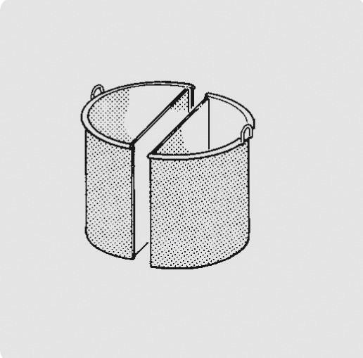Kochkessel-Einsatz 100 l, 2-teilig