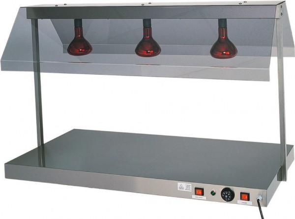 Warmhalteplatte mit 2 Infrarotlampen 850 x 640 x 800 mm