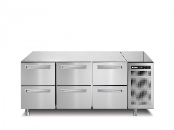 Kühltisch 252 l GN 1/1 6 Schubladen