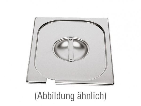 GN-Deckel GN 1/6 176 x 162 mm mit Löffelausschnitt Edelstahl