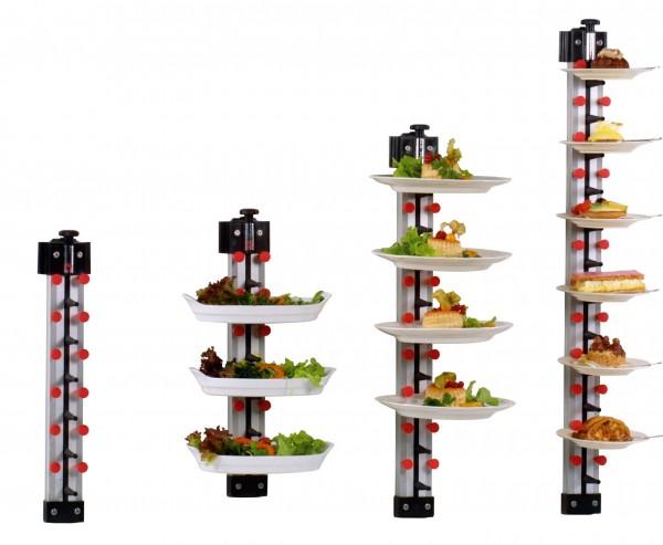 Tellerstapelsystem PLATE MATE Wandmodell bis 21 Teller / H=1620 mm