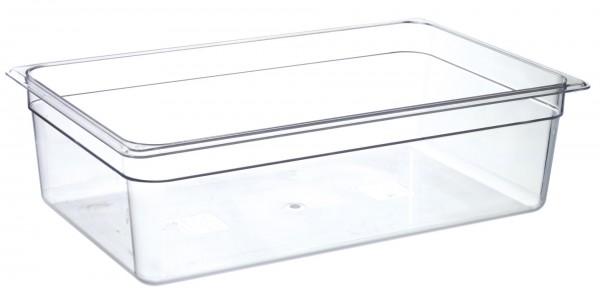 GN-Behälter GN 1/1 530 x 325 x 150 mmPolycarbonat transparent- Polycarbonat- mit