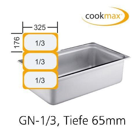 GN-Behälter GN 1/3 325 x 176 x 65 mm Edelstahl