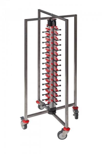 Tellerstapelsystem PLATE MATE fahrbar und faltbar bis 60 Teller / H=1430 mm