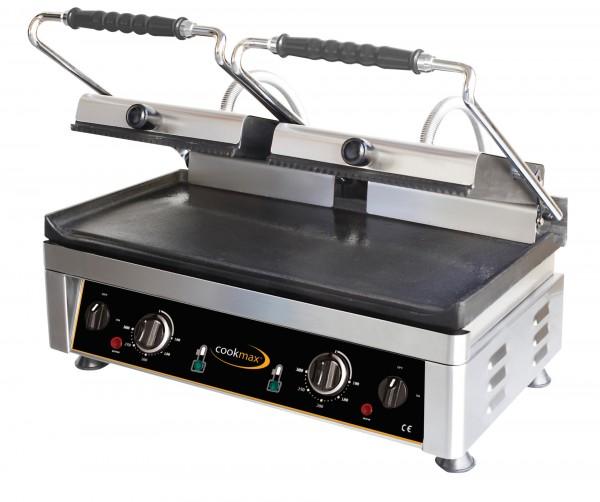 Elektro-Kontaktgrill oben gerillt +unten glatt 560 x 440 x 300 mm- Grillfläche 5