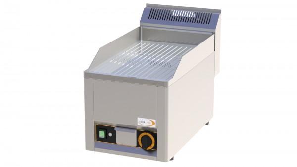 Elektro-Grillplatte gerillt verchromt 1 Heizzone 330 x 600 x 290 mm
