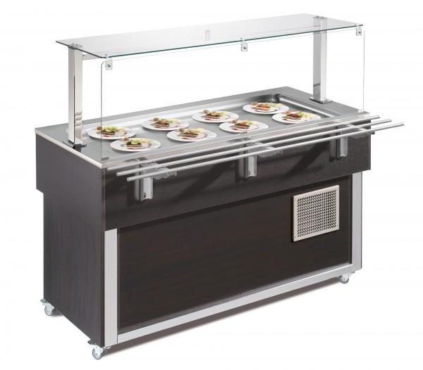 Ausgabe-Element gekühlte Platte 1494 mm GN 4/1 Vollverkleidung Wenge| Cookmax
