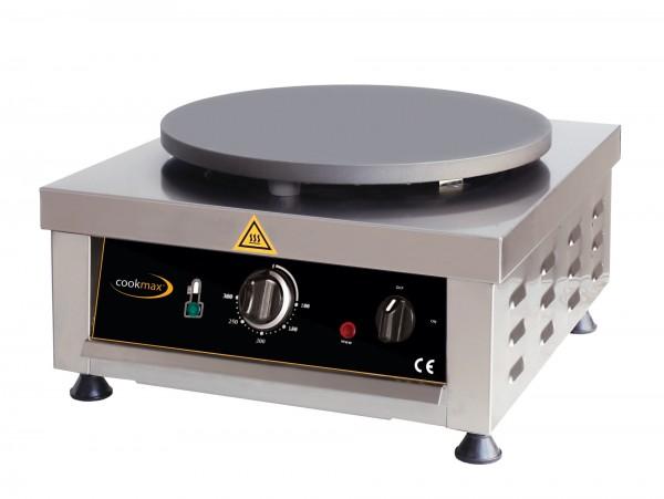 Elektro-Crepiere 1 Backfläche ø 400 mm /500 x 450 x 220 mm- Außengehäuse: Edelst
