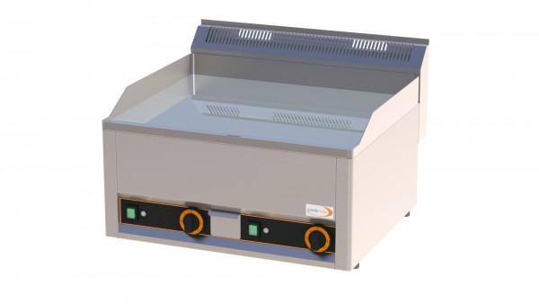 Elektro-Grillplatte glatt verchromt 2 Heizzonen 660 x 600 x 290 mm