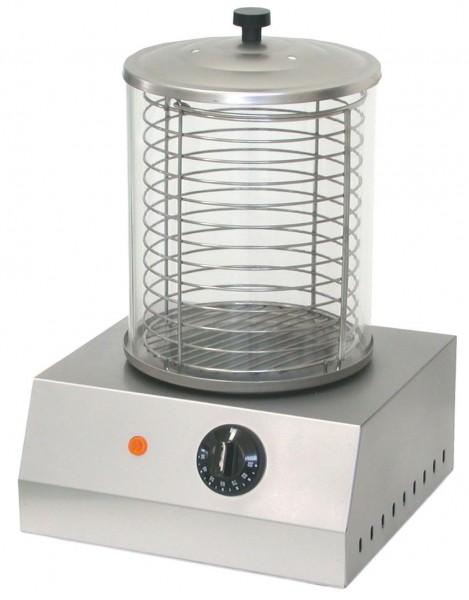 Hot Dog-Gerät mit Glasbehälter280 x 270 x 400 mm- Temperatur: 0°C bis 90°C- Behä