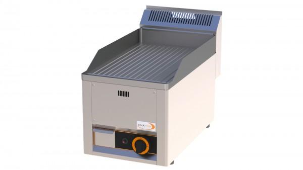 Gas-Grillplatte gerillt 1 Heizone 330 x 600 x 290 mm| Cookmax