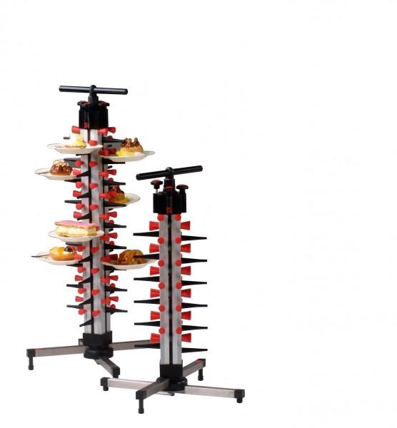 Tellerstapelsystem PLATE MATE Tischmodell bis 12 Teller / H=490 mm