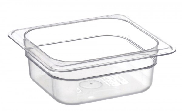 GN-Behälter GN 1/6 176 x 162 x 65 mmPolycarbonat transparent- Polycarbonat- mit