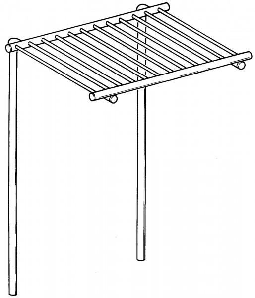Aufsatzablagerost für Töpfe, B: 800 mm