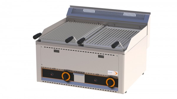Gas-Lavasteingrill 620 x 480 mm / 660 x 600 x 290 mm