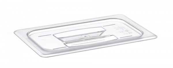 GN-Deckel GN 1/4 265 x 162 mm mit Griffohne Aussparung Polycarbonat transparent-