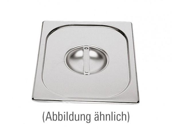 GN-Deckel GN 1/9 176 x 108 mm ohne Löffelausschnitt Edelstahl