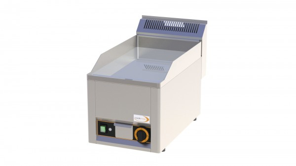 Elektro-Grillplatte glatt verchromt 1 Heizzone 330 x 600 x 290 mm