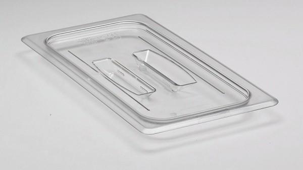 GN-Deckel GN 1/3 325 x 176 mm mit Griffohne Aussparung Polycarbonat transparent-