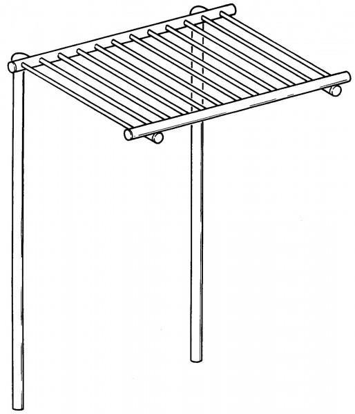 Aufsatzablagerost für Töpfe, B: 1200 mm