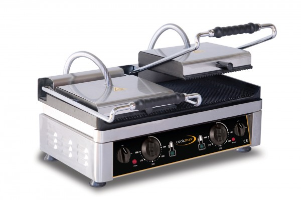 Elektro-Kontaktgrill oben + untengerillt 560 x 440 x 300 mm- Grillfläche 520 x 2