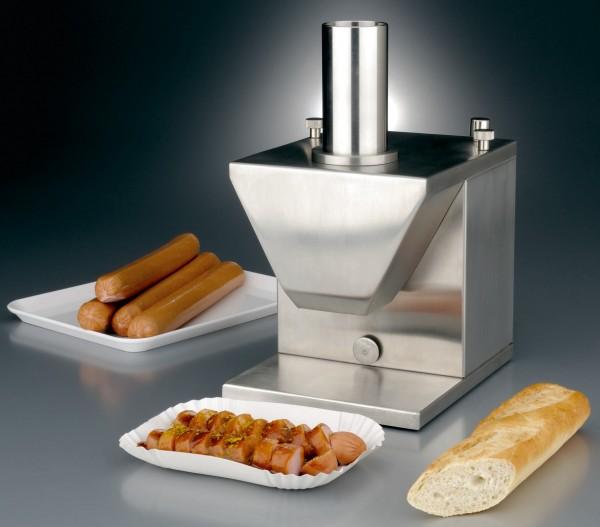 Currywurstschneider, mit Automatik185 x 225 x 330 mm- schneidet vollautomatisch