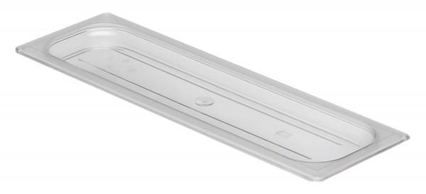 GN-Deckel GN 2/4 530 x 162 mm ohne Griffohne Aussparung Polycarbonat transparent