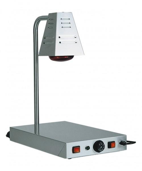 Warmhaltestation mit Infrarotlampe und beheizter Platte 330 x 580 x 680 mm