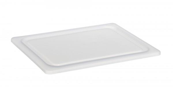 Luftdichter Deckel GN 1/2 weiß fürFrischhalteboxen + GN-Beh. Polycarbonat- Polyp