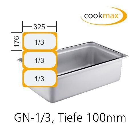 GN-Behälter GN 1/3 325 x 176 x 100 mm Edelstahl