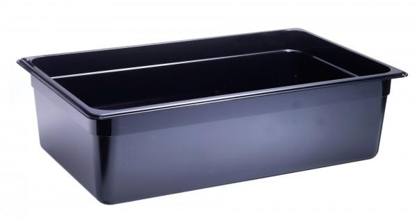 GN-Behälter GN 1/1 530 x 325 x 150 mmPolycarbonat schwarz- Polycarbonat- mit Sta