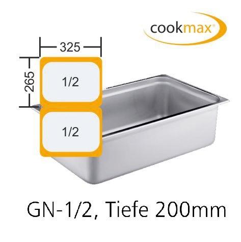 GN-Behälter GN 1/2 325 x 265 x 200 mm Edelstahl